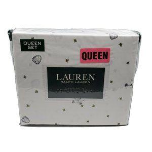 Lauren Ralph Lauren 4 PC Queen Sheet Set Honey Bee